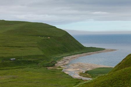 Ocean coast, Commander Islands, Kamchatka, Russia