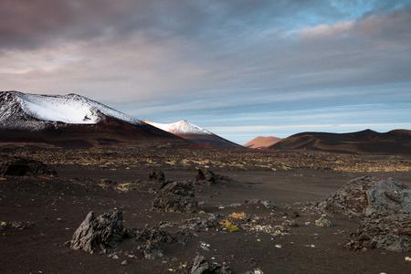 kamchatka: Volcanoes of Kamchatka in Russia Stock Photo