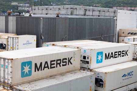 08272019. Container terminal in the seaport of Petropavlovsk-Kamchatsky Editöryel