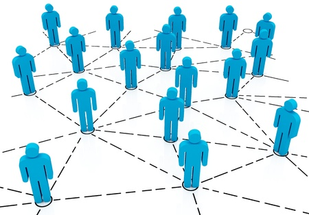 Connected People in Social Business Business team Network photo