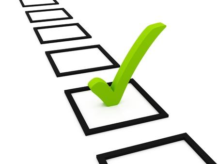 web survey: Lista de comprobaci�n de s�mbolo  Foto de archivo