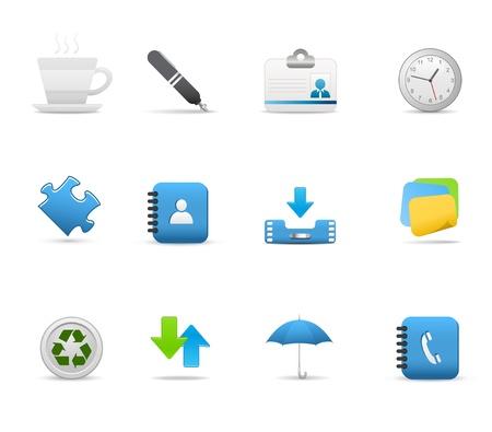 directorio telefonico: Establecer iconos para aplicaciones Web - Vector Vectores