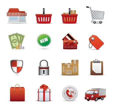 Icons Set for Web Applications, Shopping icons, Shopping Icon Set - Vector Vector