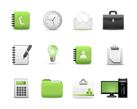 Icons Set for Web Applications, Office icons, Universal icons Set .