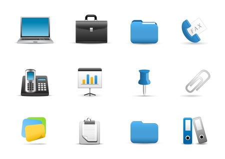 Icons Set for Web Applications, Office &amp, Business icons, Universal icons Set. Vector