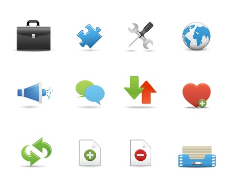 Icons Set for Web Applications, Internet &amp, Website icons, Universal icons Set. Stock Vector - 10476653