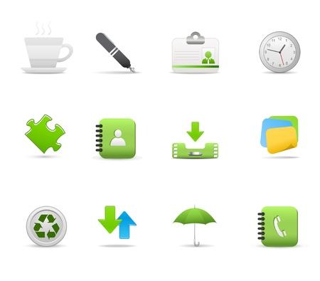 directorio telefonico: Establecer iconos para aplicaciones Web, Internet y Web, iconos, Set iconos universales. Vectores