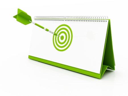 green Target Date Stock Photo - 10842457