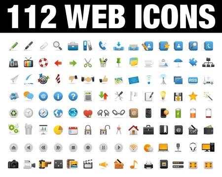 보편적 인: 웹 응용 프로그램의 설정 아이콘, 인터넷 웹 사이트 아이콘 설정 일러스트