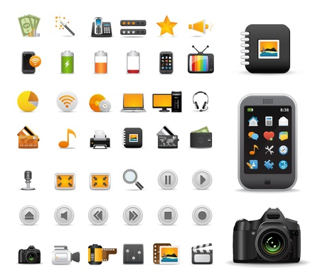 Icons Set for Web Applications, Internet &amp, Website icons, Universal icons Set Vector