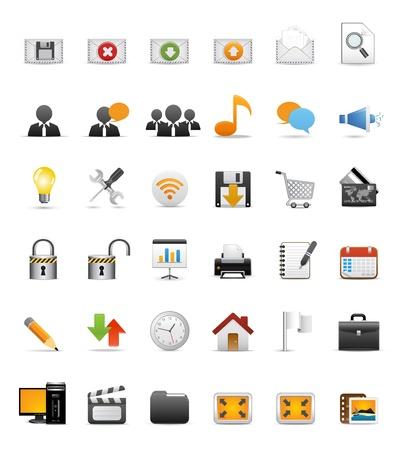 agregar: Conjunto de iconos para aplicaciones Web, iconos de sitio Web de Internet, iconos universales conjunto