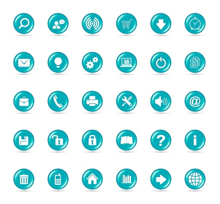 Icons Set for Web Applications, Internet Website icons, Universal icons Set  Vector