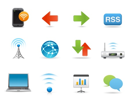 Icons Set for Web Applications, Universal Internet Wireless Icons Set