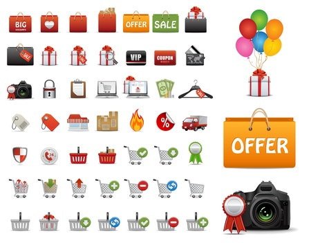 Web Icons, Internet &amp, Website icons, shopping sale icons Set, web buttons  Vector