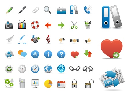 Web Icons, Internet Website icons, office universal icons Set, web buttons  Vector