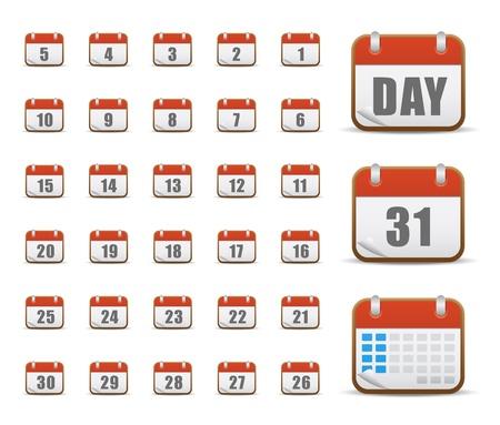 calendrier jour: Ic�nes Web, Internet et site Web, les ic�nes, les ic�nes du calendrier, d�finissez les ic�nes, boutons web