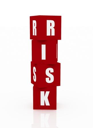 Risk Blocks Stock Photo - 10916410