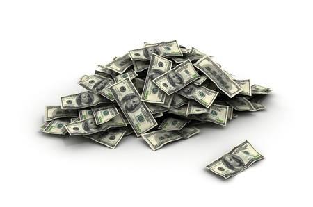 Falling Money dollars Stock Photo - 10916544