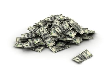 flujo de dinero: La ca�da de Dinero d�lares