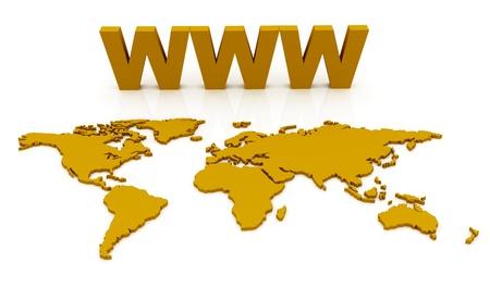WWW World Map Globe photo