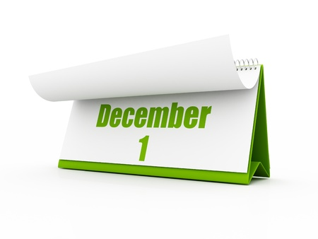 december kalender: GREEN kalender december Stockfoto
