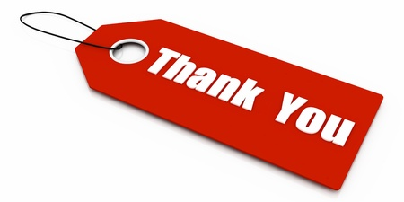 Thank you. Gift Card Isolated on White photo