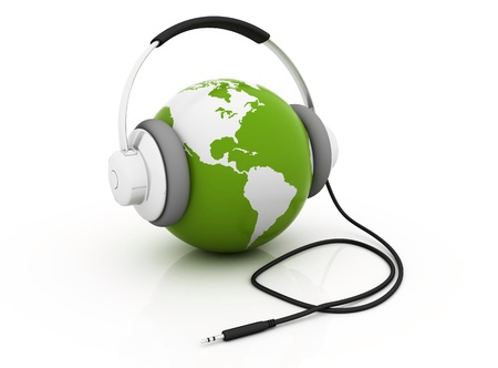 The Earth is Listening, green color photo
