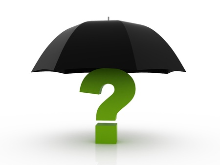 Question with Umbrella concept Stock Photo - 10926382