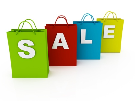 Sale shopping bags Stock Photo - 10926468