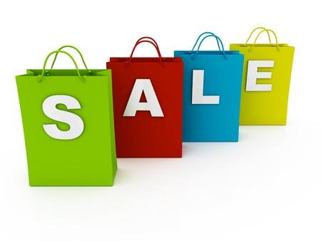 Sale shopping bags photo