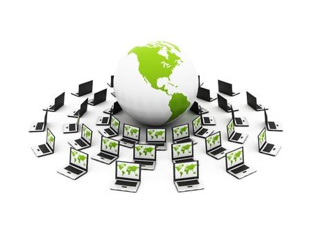 contact info: computer di rete globale