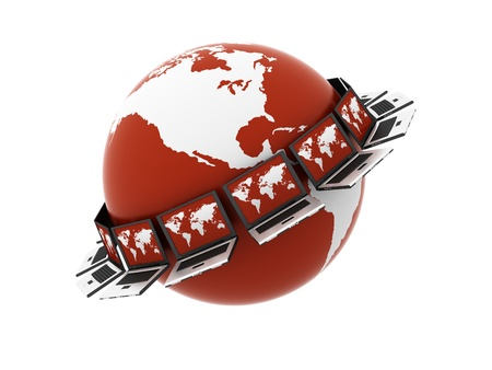 Global red Computer Network photo