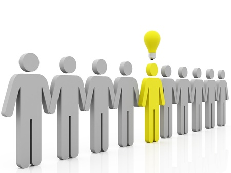 leading idea row Stock Photo - 10916403