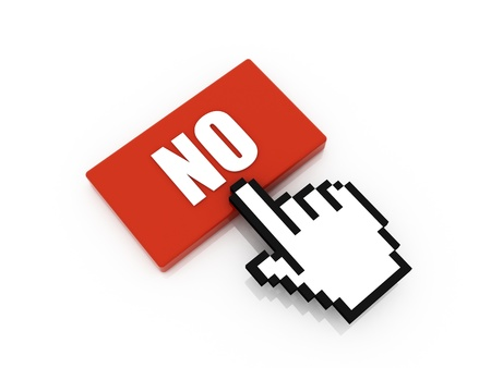 no button concept Stock Photo - 10916426