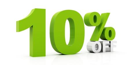 10 Percent off green color photo