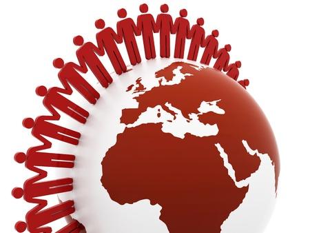 Network concept, global business network. teamwork illustration illustration