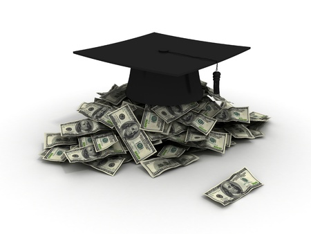 successful student: Education Costs Stock Photo