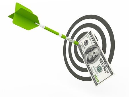 business Success concept, money dollar target photo