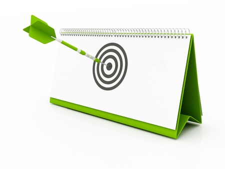 arrow hitting target - New Year. Deadline, Target Date photo