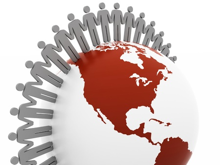 international internet: Network concept, global business network. teamwork illustration Stock Photo
