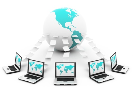 Global Computer Network Stock Photo - 12516288