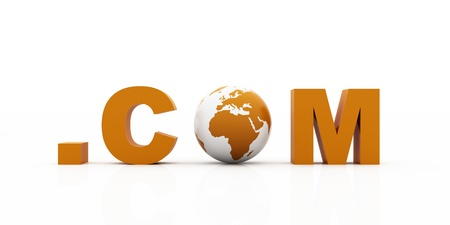 world .com, orange color Stock Photo - 12516230