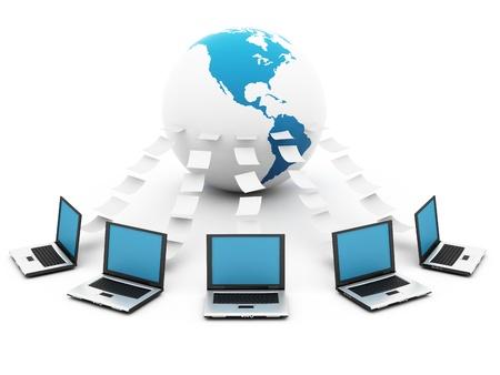 Global blue Network Stock Photo - 12516352