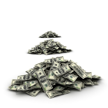 Falling Money dollars photo