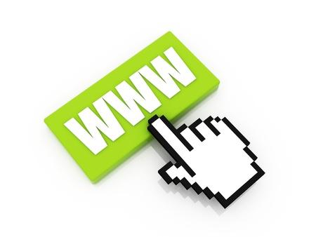 www Button concept for web design. photo