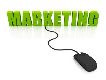 online marketing concept Stock Photo - 12516250