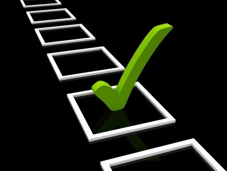 vote: check list symbol