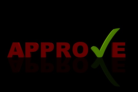 approve black Stock Photo - 12516402