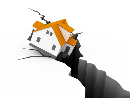 house Earthquake Concept Stock Photo - 12516426