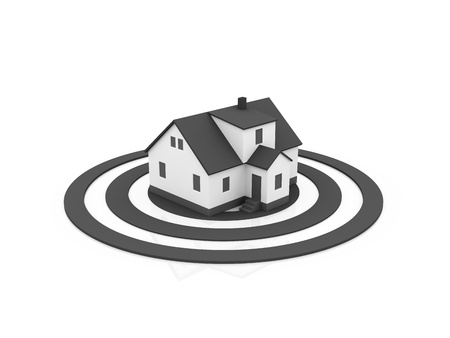 illustration of a house in the center of a target illustration